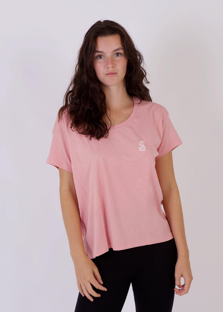 Women's MOUNTAIN Relaxed T-Shirt-SWAN
