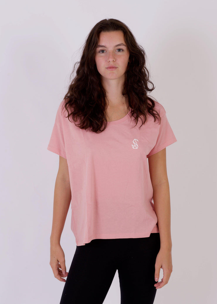 Women's PENGUIN Relaxed T-Shirt-SWAN