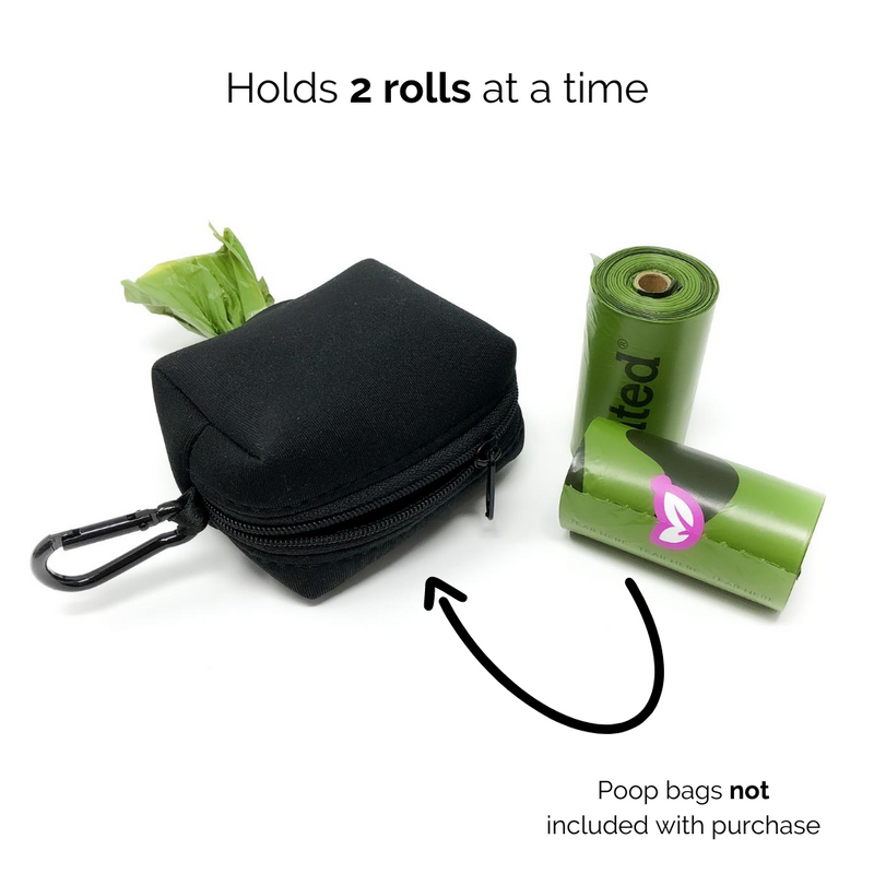 Poop bag holder - Black