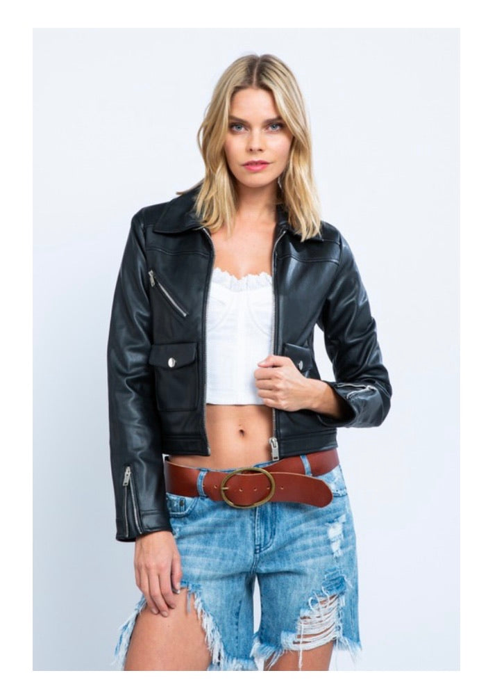 Rockstar Vegan Leather Jacket