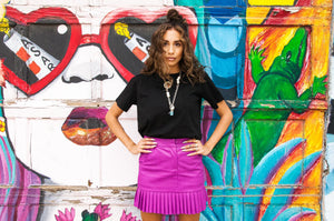 City Faux Leather Skirt
