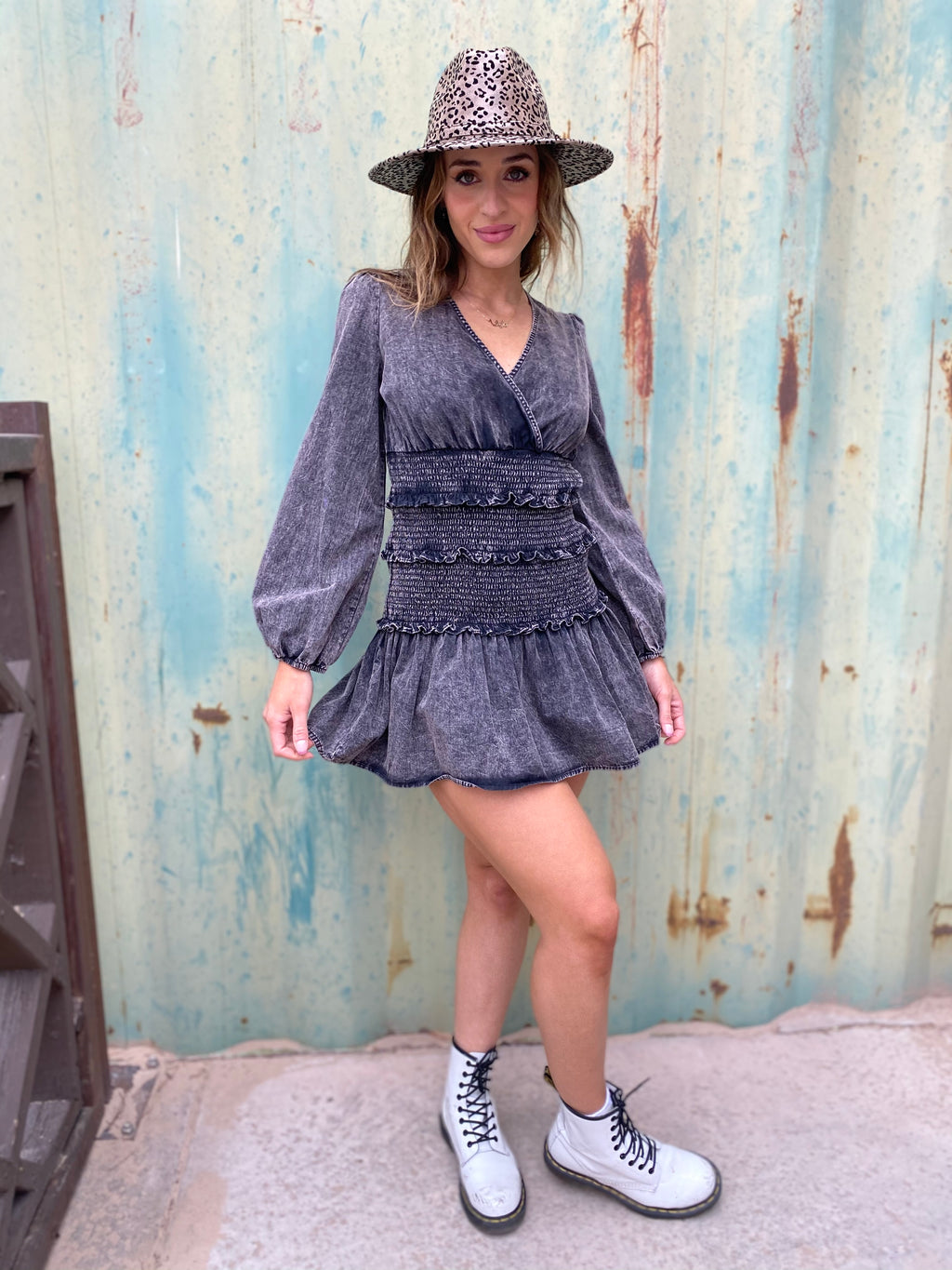 Wash Out Denim Dress