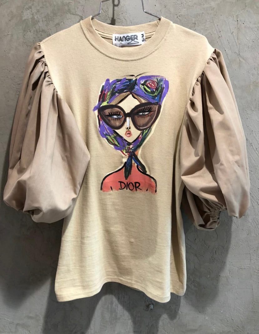 Dior Puff Sleeve T-shirt