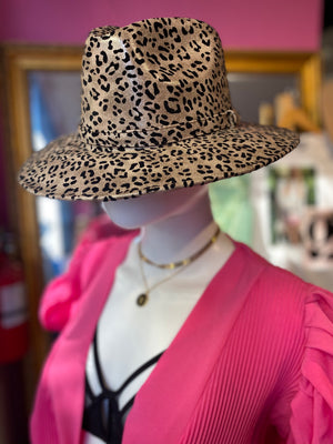 Val Leopard Fedora