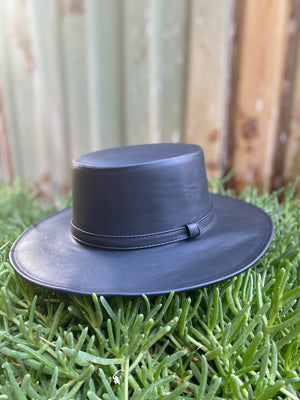 Elisa Vegan Leather Hat
