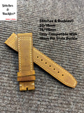 20/18mm Brown Calf Leather Strap for IWC Mark 17/18 Models