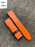 20/18mm Black Calf Leather Strap for IWC Mark 16/17/18/19 Pilot Models