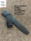 21/18mm Black Kevlar Strap for IWC 3717/3777 Pilot Chronograph Models