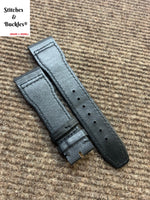 22/18mm Black Kevlar Leather Strap for IWC Pilot Models