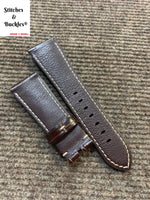 26/22mm Burgundy Alligator Embossed Calf Leather For Panerai Radiomir & 47mm Luminor/Submersible