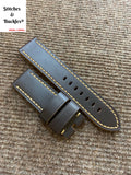 24/24mm Dark Brown Calf Leather Strap For Panerai 44mm Luminor/Submersinle