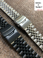 Solid Stainless Steel Jubilee Bracelet For Seiko Prospex Re-issue Turtle Models