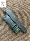 21/18mm Unique Green Calf Leather Strap for IWC 3717/3777 Pilot Chronograph