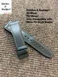 21/18mm Dark Grey Calf Leather Strap for IWC 3717/3777 Pilot Chronograph