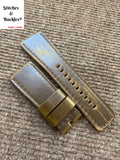 28/24mm Handmade Olive Calf Leather Strap for All Sevenfriday Models