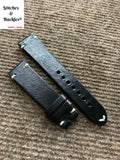 20/18mm Vintage Black Calf Leather Strap