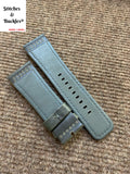 28/24mm Dark Grey Calf Leather Watch Strap for All Sevenfriday Models