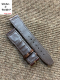 20/18mm Burgundy Alligator Embossed Calf Leather Strap for IWC Mark 16/17/18/19 Models