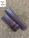 28/24mm Purple Calf Leather Watch Strap for All Sevenfriday Models