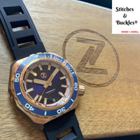 Zelos HAMMERHEAD 2 1000M BRONZE 'MIDNIGHT BLUE' SEIKO NH35