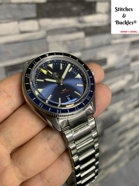 ZELOS HORIZONS V2 GMT 200M SS MIDNIGHT BLUE