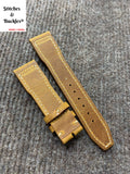 21/18mm Vintage Brown Calf Leather Watch Strap for IWC 3717 / 3777 Pilot Chronograph Models