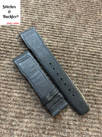 20/18mm Black Kevlar Leather Strap for IWC Mark 16/17/18/19 Pilot Models