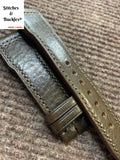 21/18mm Olive Calf Leather Strap for IWC 3717/3777 Pilot Chronograph