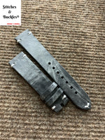 20/18mm Vintage Grey Calf Leather Strap