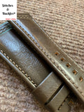 28/24mm Olive Calf Leather Watch Strap for All Sevenfriday Models