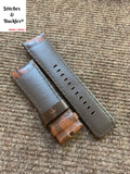 28/24mm Dark Brown Camo Calf Leather Watch Strap for All Sevenfriday Models