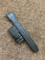 22/18mm Riveted Black Kevlar Leather Watch Strap for IWC Big Pilot Clasp Models