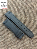 21/18mm Black Kevlar Leather Strap for IWC 3717/3777 Pilot Chronograph models