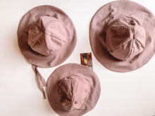 Load image into Gallery viewer, Cotton sun hat - Dusty rose