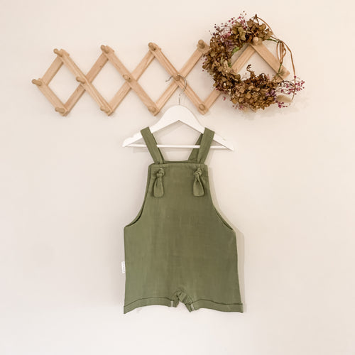 Slouch overall shortalls - Sage