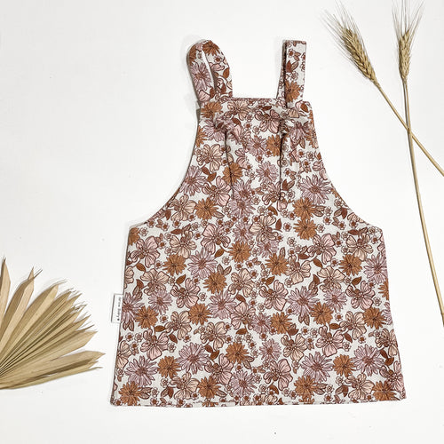 Autumn floral overall dress