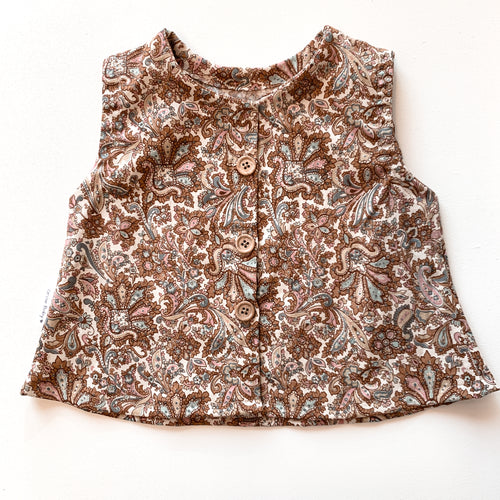 Cotton button top - Paisley