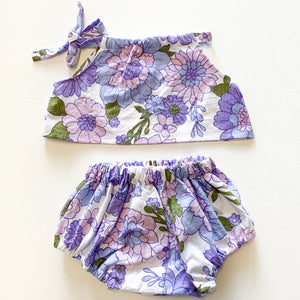 Vintage collection swing top - purple floral