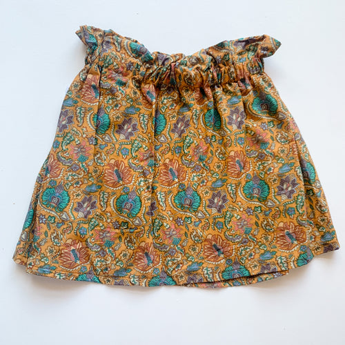 Paper bag skirt - Peacock