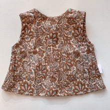 Load image into Gallery viewer, Cotton button top - Paisley