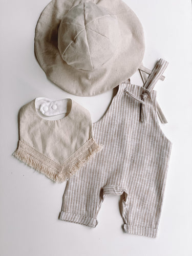 Slouch overalls- Stripe