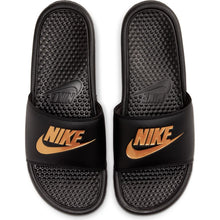 Load image into Gallery viewer, Nike Men's Benassi JDI Black/Metallic Gold