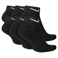 Load image into Gallery viewer, Nike Everyday Cushioned Training Low Socks (6 Pairs) Black