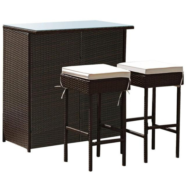 3PCS Patio  Bar Dining Set HW62380