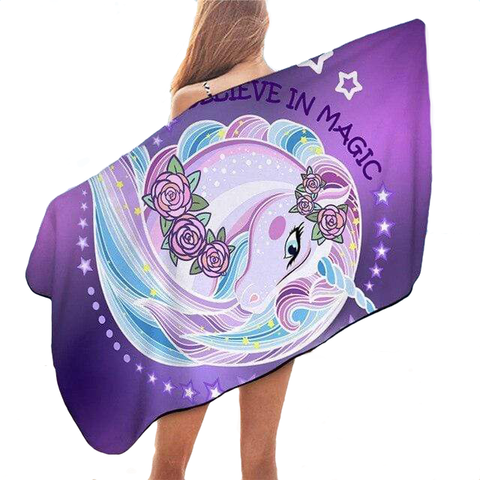 Serviette de Plage Licorne <br> Believe in Magic