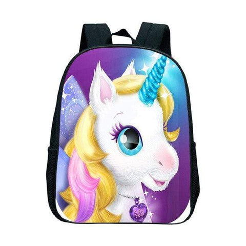 Cartable Licorne Chevelure Blonde