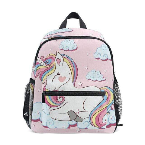 Cartable Licorne Nuage Rose