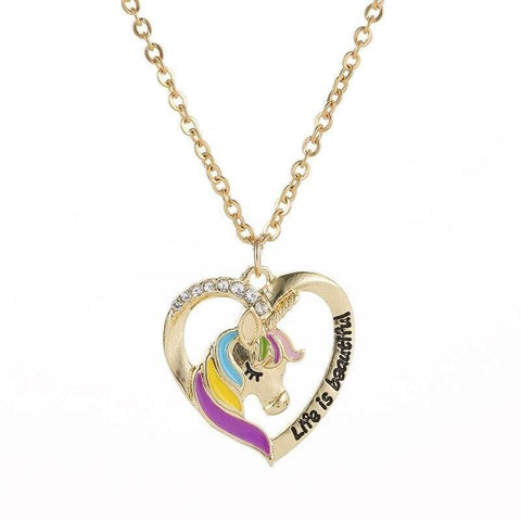 Collier Licorne <br> Life Is Beautiful - La Licorne Ailée
