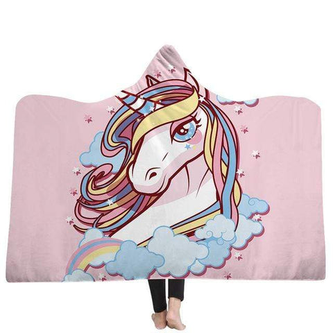 Plaid Licorne <br> Mirage Rose - La Licorne Ailée