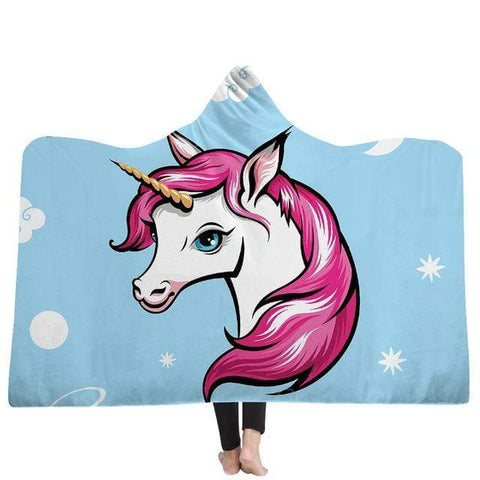 Plaid Licorne <br> Pop Art - La Licorne Ailée
